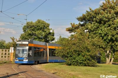 30.07.2016: NGT8 1148 nach Kupplungsumbau auf Linie 1 unterwegs