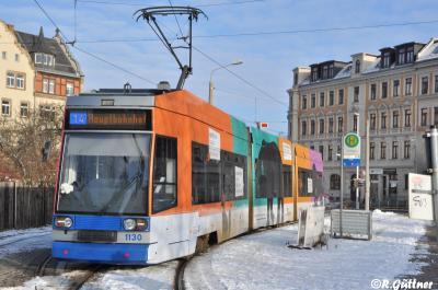 19.01.2017: NGT8 1130 wirbt für das Sächsisches Staatsministerium