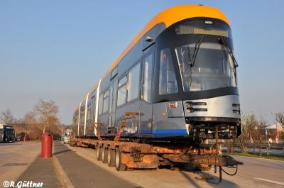 08.02.2018: Anlieferung vom Tramino XL Nummer 1011