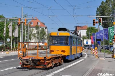 09.05.2016: Drehgestell-Lore 5511 aus Dölitz abgeholt